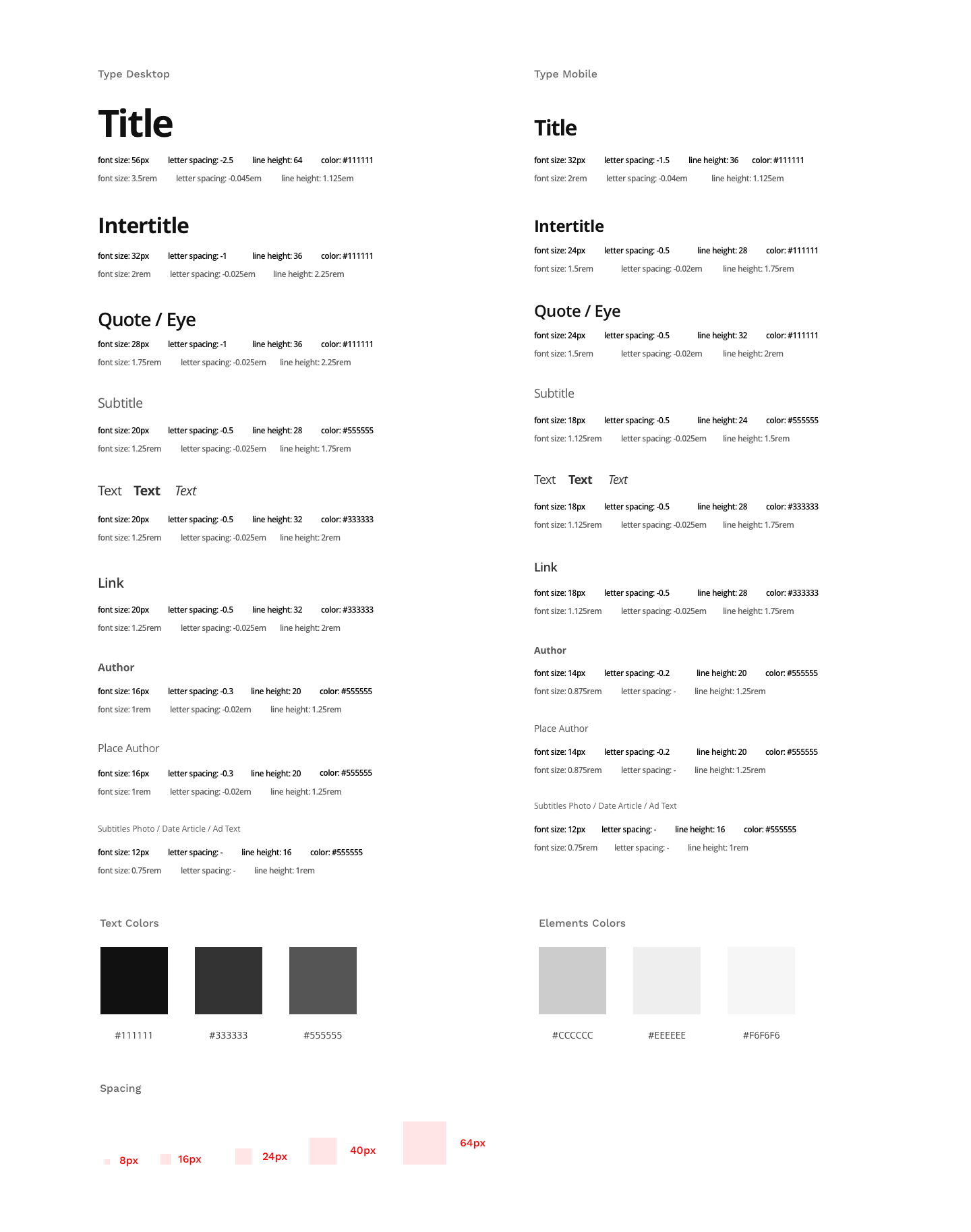 styleguide multicontent